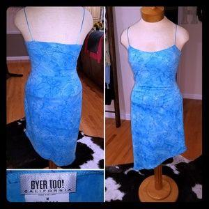 Byer Too Blue Spaghetti Strap Dress